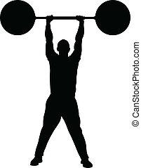 Gewichthebende Kraft.