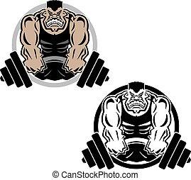 Gewichthebende Muskel Fitnessstudio lo.