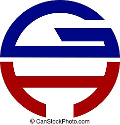 GH modernes Logo-Design.