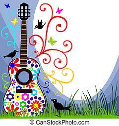 Gitarre auf der Wiese