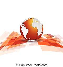Glänzender Bewegungstechnik-Vektor Hintergrund mit Globus