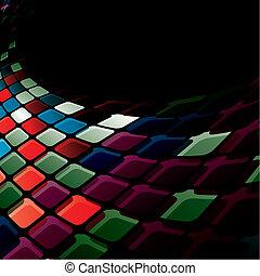 Glänzendes Mosaik