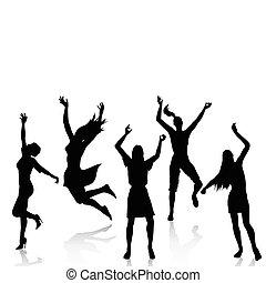 Glückliche, aktive Frauen