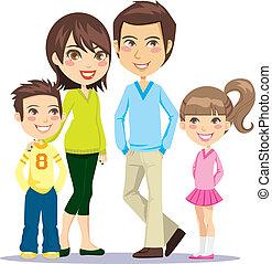 Glückliche, lächelnde Familie