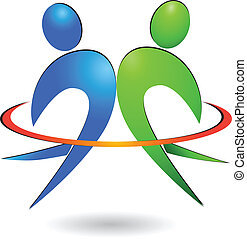 Glückliche Menschen Logovektor