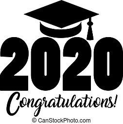 glückwünsche, banner, klasse, 2020
