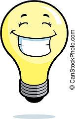 Glühbirne lächelt