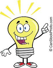 Glühbirne mit einer tollen Idee