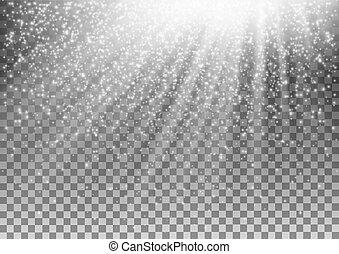 glühen, vektor, hintergrund., effekt, durchsichtig, licht