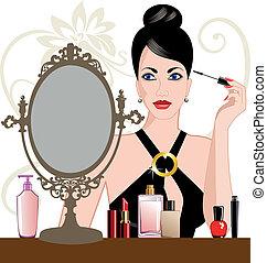 Glamour-Frau mit Make-up