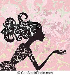 Glamour-Mädchenfrisur