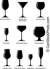 glas, satz, alkoholiker