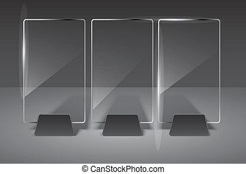 glas, vektor, eps10, illustration., billboard.