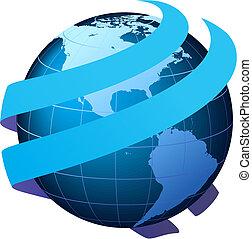 Globale Kommunikation - Vektor