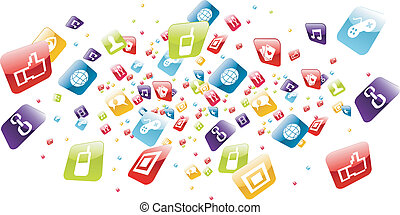 Globale Mobilfunk-Apps spritzen Ikonen