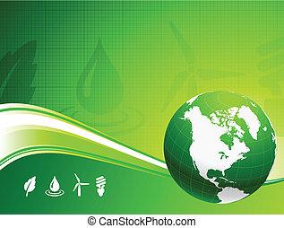 Globe auf Nautre Green Hintergrund