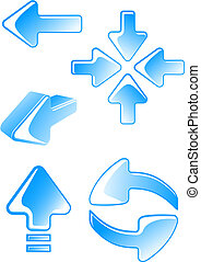 Glossy-Pfeil-Ikonen