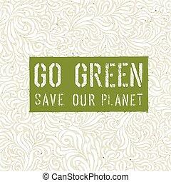 Go Green Concept Poster.