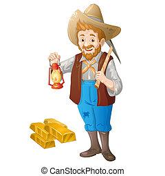 gold, bergarbeiter