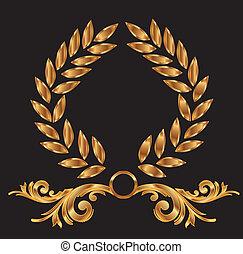 Gold-Lorrel-Renath-Dekoration.