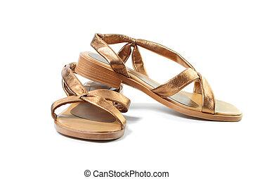 Gold Sandalen