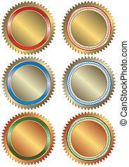 Gold, Silber und Bronzebanner
