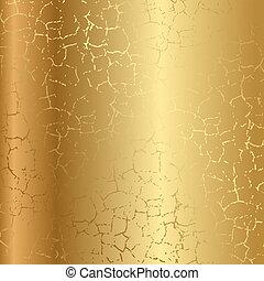 Gold Textur mit Rissen.