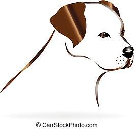 Golden Retriever Hundekopf Logo.
