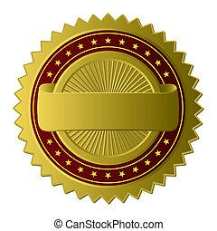 Goldene Label (Vector)
