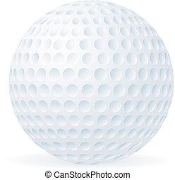 Golfball isoliert auf weiß