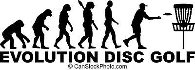 golfen, scheibe, evolutionsphasen