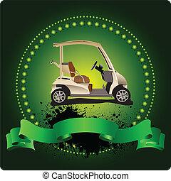 Golfer Club Emblem. Vector illustra