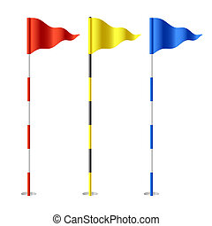 Golfflaggen.