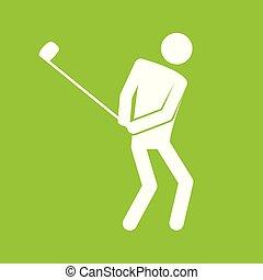 Golfsportfigurensymbol Vektorgrafik.