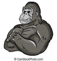 gorilla, starke , maskottchen