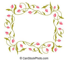 Grüße Karte mit Blumenmuster.