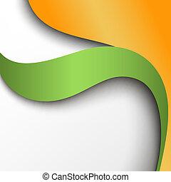 Grün- und orangefarbener Hintergrund abbrechen