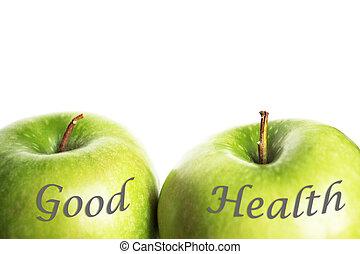 Grüne Äpfel sind gesund