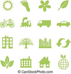 Grüne Ökologie-Symbol