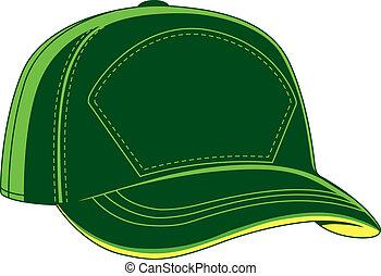 Grüne Baseballkappe