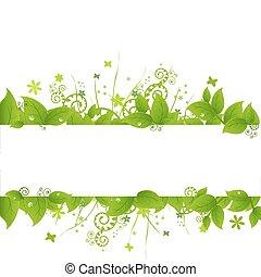 Grüne Blätter und Gras