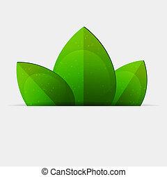 Grüne Blätter.
