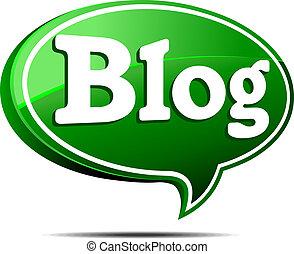 Grüne Blog-Redeblase