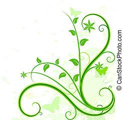 Grüne Blumen.
