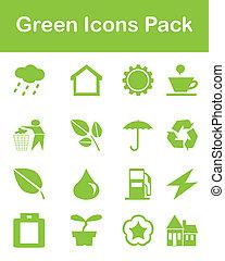 Grüne Ikonenpackung