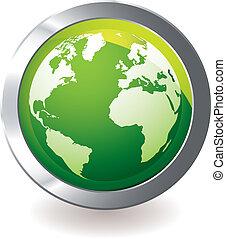 Grüne ikonische Erde