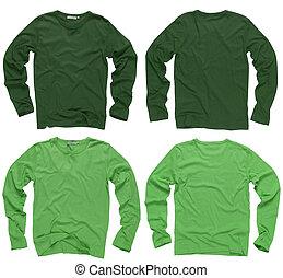 Grüne, lange Ärmel Hemden