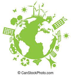 Grüne Umwelt Erde.