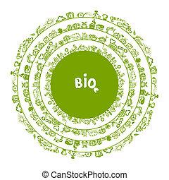 Grüner Ökologiebegriff, Kreisrahmen für dein Design