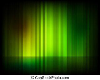 Grüner, abstrakter, glänzender Hintergrund. EPS 8